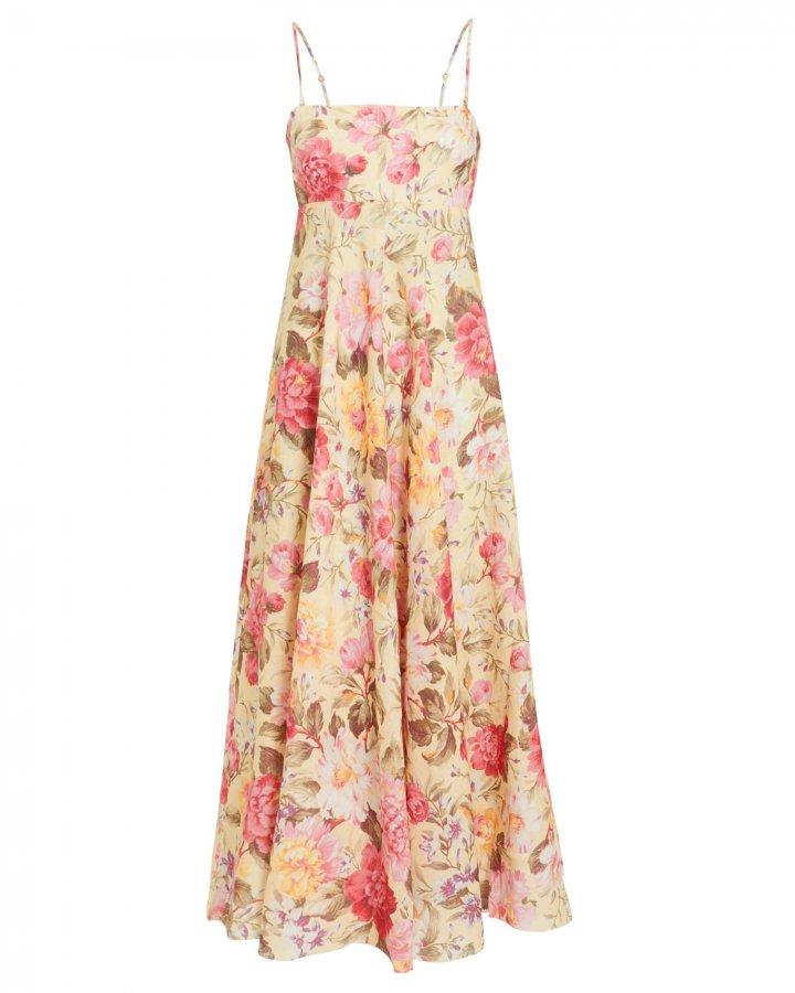 Honour Linen Floral Dress