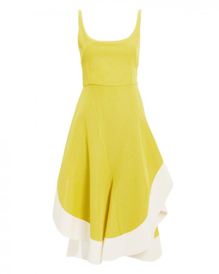 Chartreuse Jersey Flamenco Dress