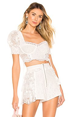 Indio Lace Crop Top                     For Love & Lemons