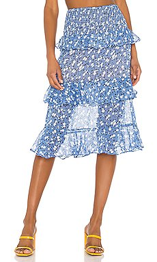 Everly Midi Skirt                     MAJORELLE