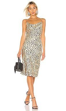 Leopard Slip Dress                     Bardot