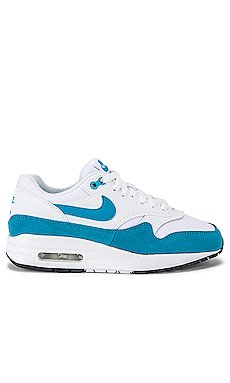 Women\'s Air Max 1 Sneaker in White & Blue                     Nike
