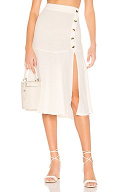 Poppy Flounced Midi Skirt                     Free People