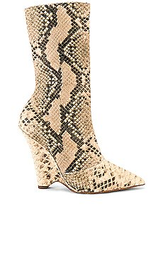 SEASON 8 Python Wedge Ankle Boot                     YEEZY
