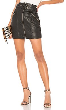 Mini Leather Skirt                     Bardot