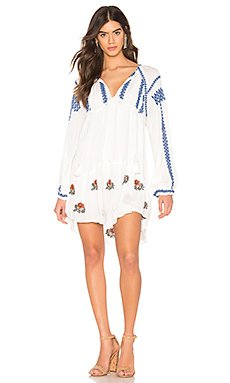 Wild Horses Embroidered Mini Dress                     Free People