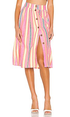 Button Front Midi Skirt                     BCBGeneration