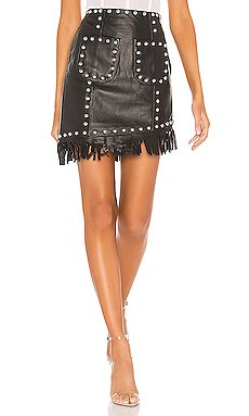 Laeticia Leather Mini Skirt                     NBD