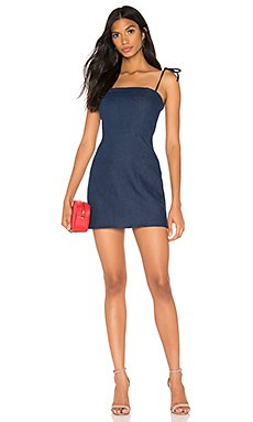 Helena Tie Mini Dress                     superdown