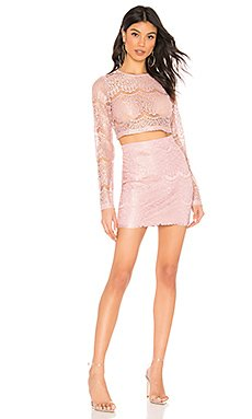 Hilda Lace Skirt Set                     superdown