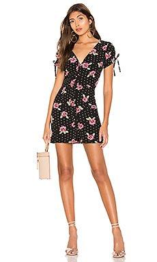 Lainie Button Mini Dress                     superdown