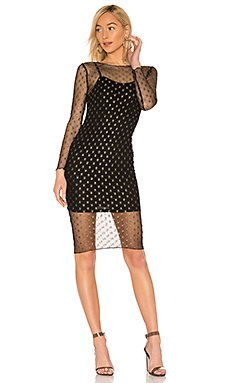 Jaymee Mesh Lurex Midi Dress                     by the way.