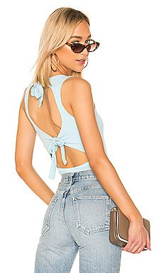 Allegra Tie Back Bodysuit                     superdown