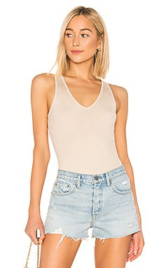 Alyce Ribbed Bodysuit                     superdown
