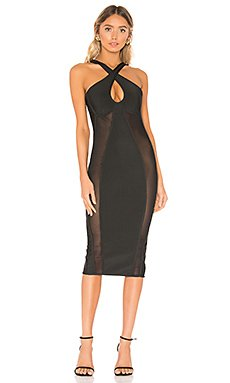 Nicole Keyhole Bodycon Dress                     superdown