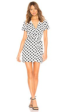 Paula Button Up Dress                     superdown