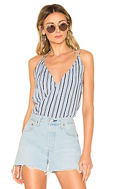 Kennedy Strappy Surplice Top                     superdown