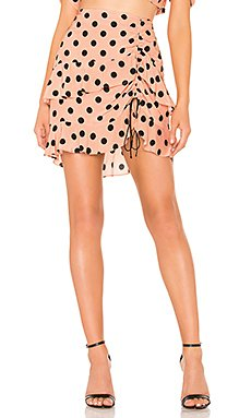 X REVOLVE Ruched Skirt                     For Love & Lemons