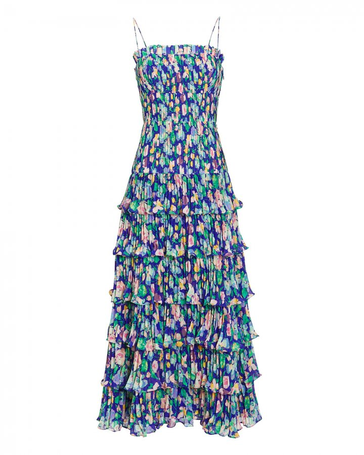 Viola Pleated Floral Dress
