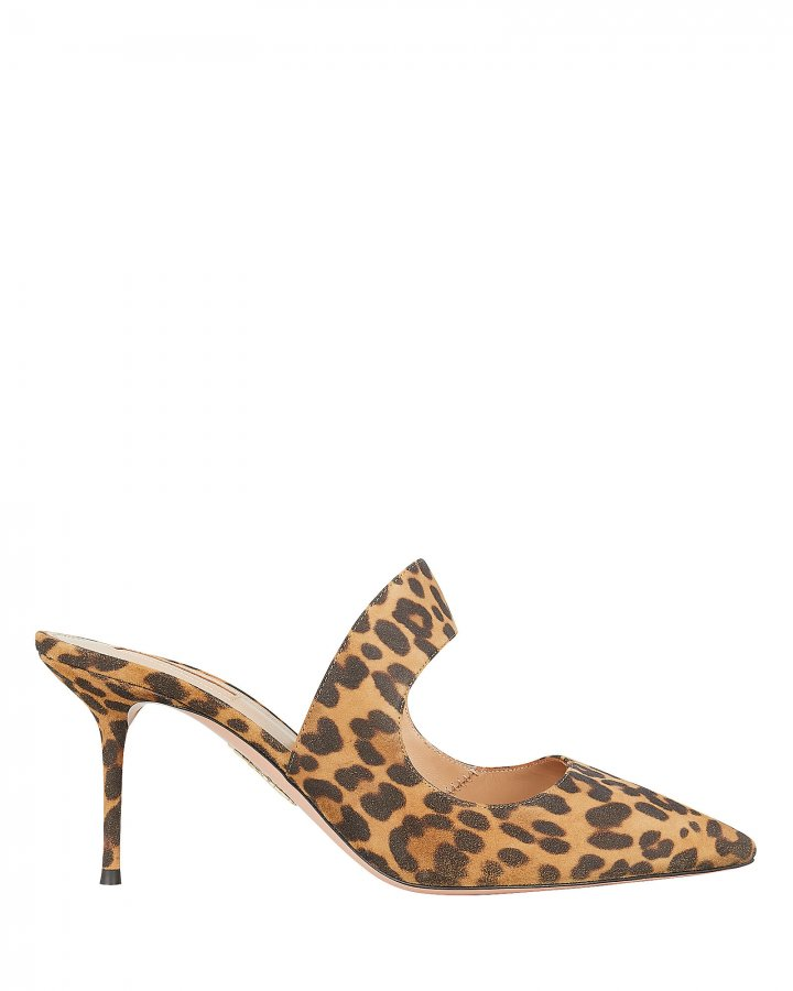 Forever Leopard Suede Mules