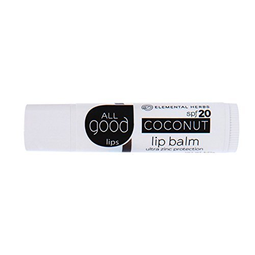 All Good SPF 20 Lip Balm for Soft Smooth Lips (Unscented)