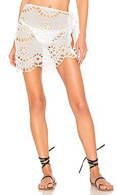 Cookies N Cream Tie Up Skirt                     For Love & Lemons