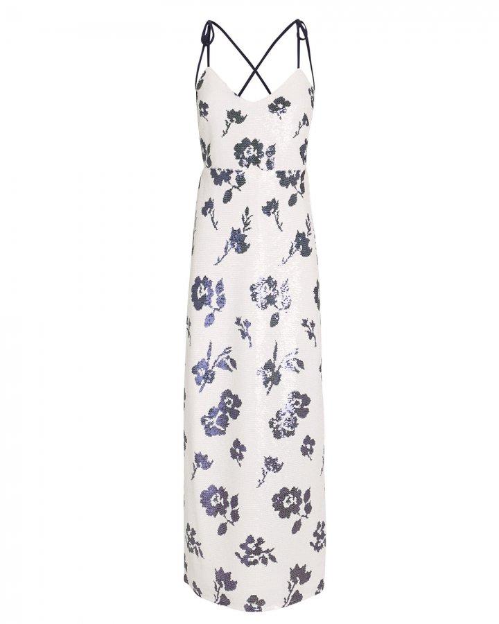 Sequin Floral Maxi Dress