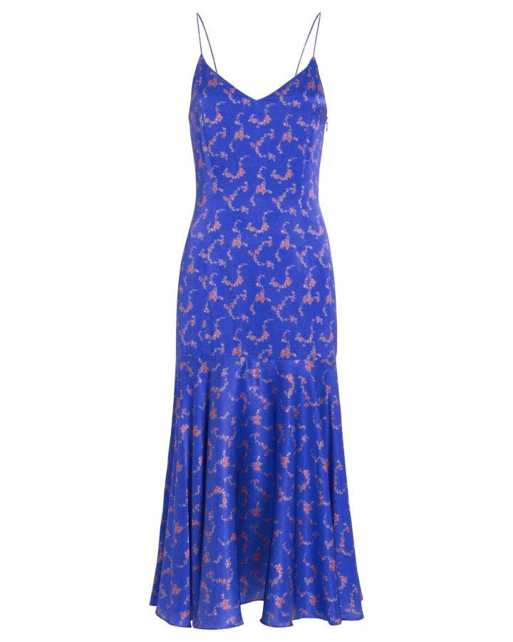 Kai Satin Floral Slip Dress