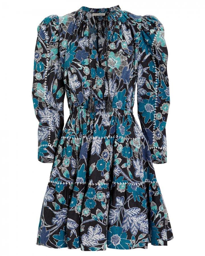 Liv Lapis Floral Patchwork Dress