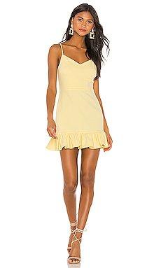 Spaghetti Strap Ruffle Hem Slip Dress                     1. STATE