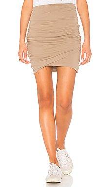 High Waist Wrap Skirt                     James Perse