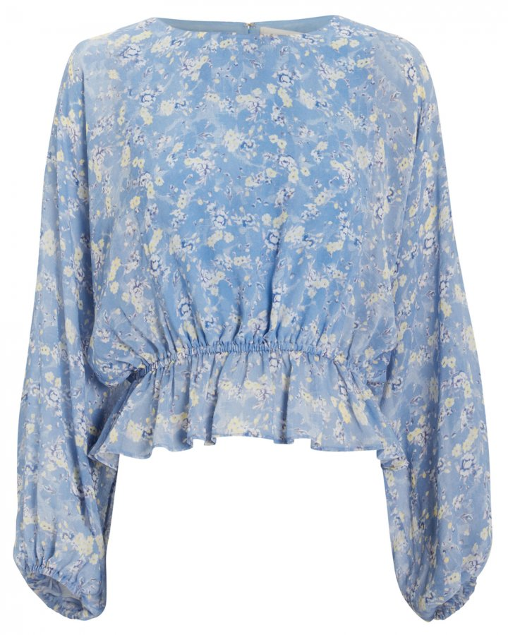 Nellie Bluejay Silk Top