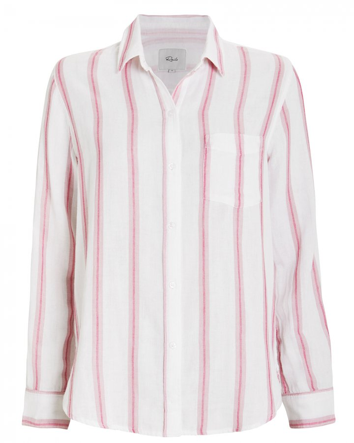 Reagan Striped Button Front Shirt