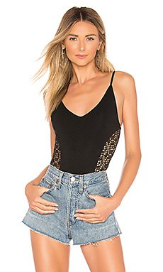 Calli Crochet Bodysuit                     superdown