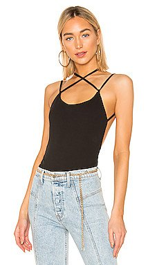 Brina Open Back Bodysuit                     superdown