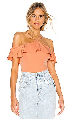 Callie Ruffle Bodysuit                     superdown