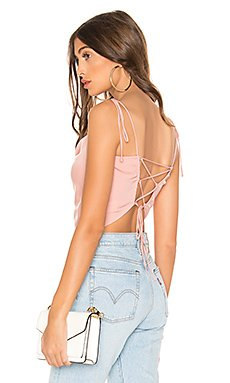 Savvy Lace Up Top                     superdown