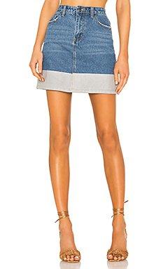 Victoria Denim Skirt                     superdown