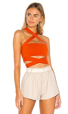 Elva Halter Tie Top                     superdown