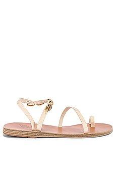 Apli Eleftheria Gold Shells Sandal                     Ancient Greek Sandals