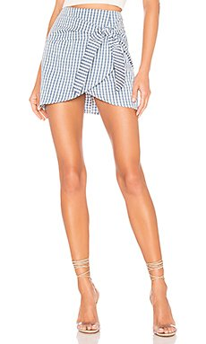 Karina Front Tie Skirt                     superdown