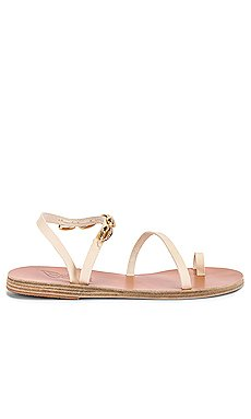 Apli Eleftheria Gold Shells Sandal                     Ancient Greek Sandals