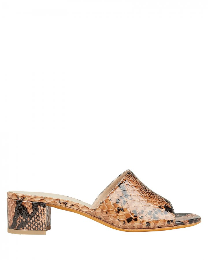 Agatha Snakeskin Embossed Sandals