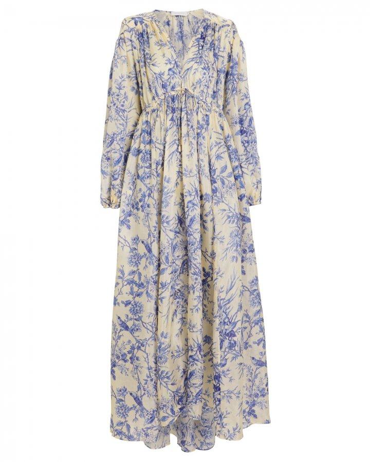 Verity Crepe Silk Floral Dress
