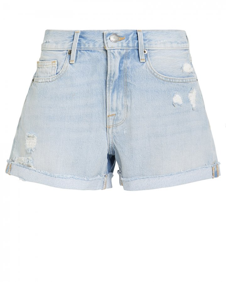 Le Brigitte Raw Denim Shorts