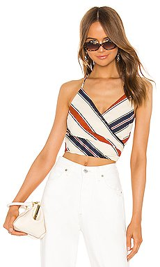 Surplice Halter Tie Back Top                     J.O.A.