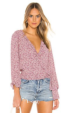 Wildflower Ditsy Ruffle Edge Wrap Top                     1. STATE