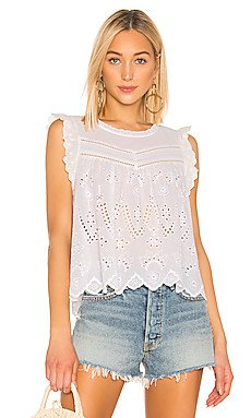 Embroidered Eyelet Blouse                     1. STATE