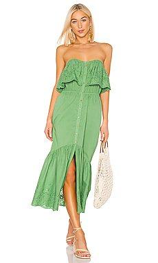 Purity Strapless Midi Dress                     MINKPINK