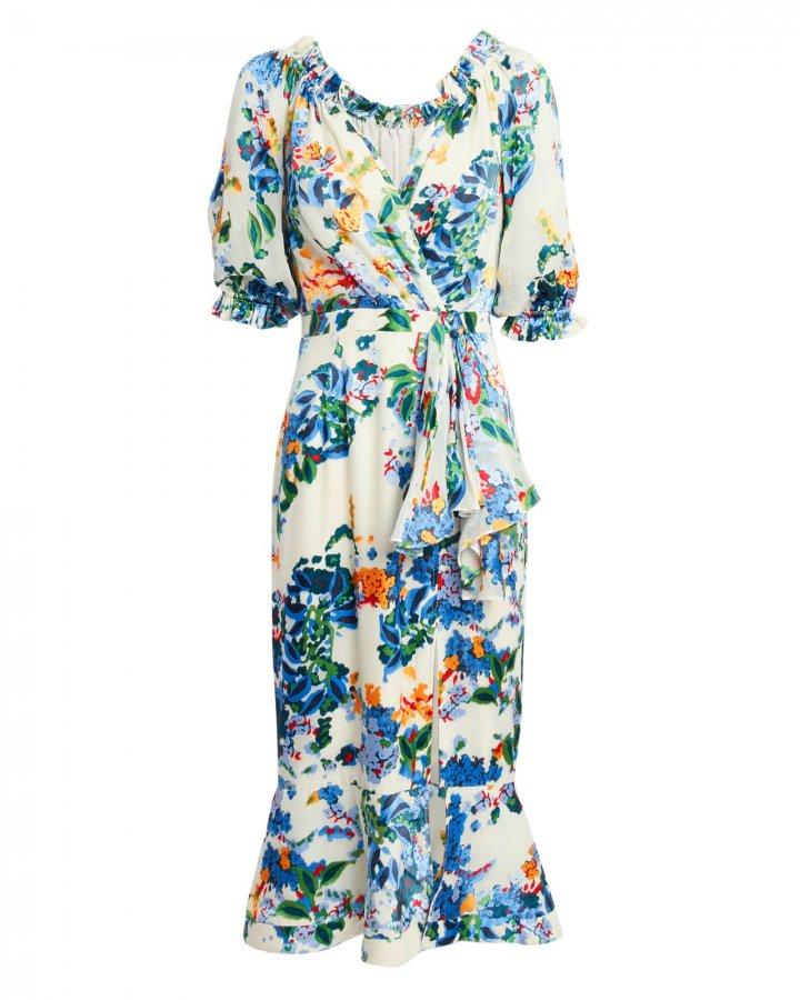 Olivia Begonia Floral Dress